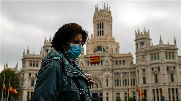 İspanya'da son 24 saatte ölü sayısı 523 arttı