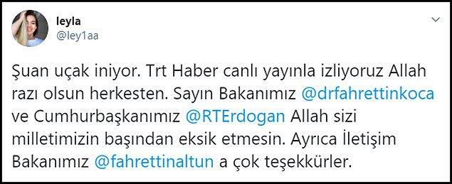 Babası ve kardeşleriyle birlikte Türkiye'ye gelmeyen Leyla Gülüşken, bu teşekkür paylaşımını yaptı. 👇