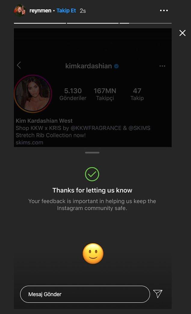Kızgınlığını gösteren ünlü isimlerden bir tanesi de Reynmen oldu, Kardashian'ı Instagram'a şikayet etti.