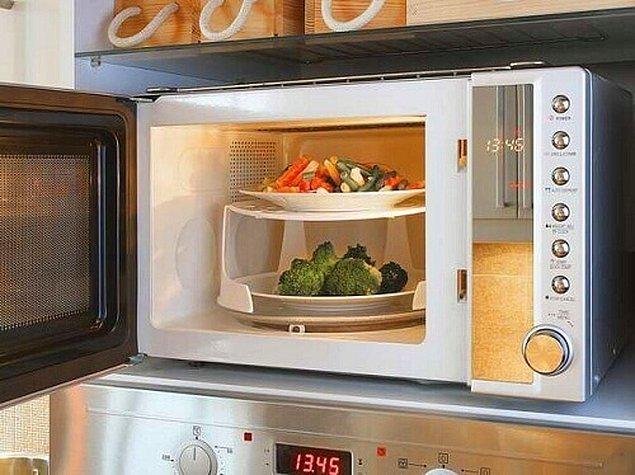 Bazı yemekler ocakta değil, fırında ısıtılır ancak. Fakat fırın yerine mikrodalga fırın tercihi, bilindiğinin aksine daha az enerji tüketmenize yarar. Açması, ısıtması nereden baksanız 20 dakika sürecek fırın süreci yerine, 20 saniyede mikrodalga fırın ile yemeğinizi ısıtabilirsiniz.