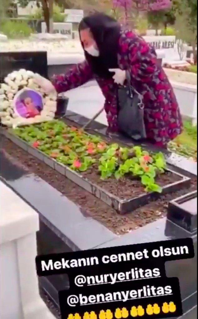 Murat Övüç, ölüm haberinin üzerinden bir hafta sonra Nur Yerlitaş'ın mezarının başına giderek ağladı ve kendisini video çektirerek Instagram hesabından paylaştı.