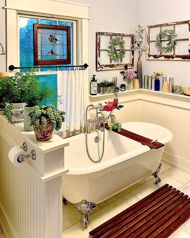 5. Banyoda yeşili sevenler için bir tane daha 😍