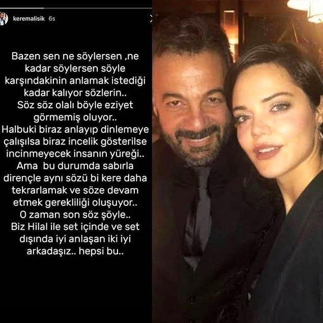 6. Kerem Alışık'tan, rol arkadaşı Hilal Altunbilek ile aşk yaşadığı iddialarına cevap geldi!