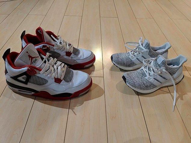 """12. """"Benim ayakkabım vs sevgilim ayakkabısı"""""""