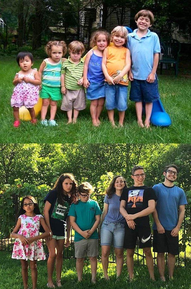 """12. """"Aynı fotoğrafı 11 yıl sonra tekrar canlandırdık."""""""