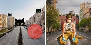Опустевшие из-за карантина улицы обрели новую жизнь благодаря румынским художникам (24 фото)