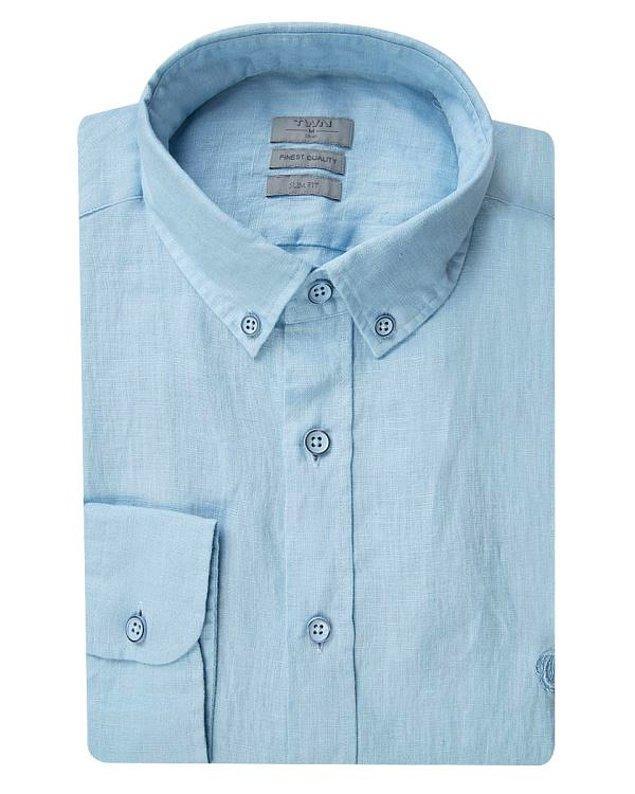 14. TWN mavi keten gömlek klasik sevenler için harika bir seçim olacak. Üstelik şu anda indirimde.