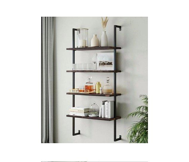 19. Duvarda duran raflar odanızın estetik görünüşüne etki sağlayabilir.