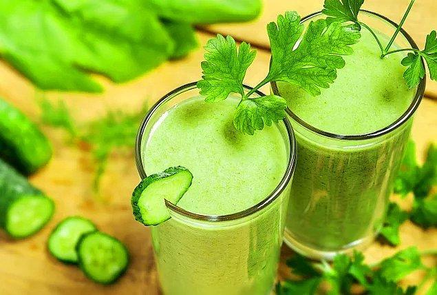 3. Yağ yakan salatalık suyu.