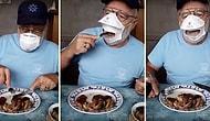 Мужчина изобрел маску, с помощью которой можно есть, не снимая ее
