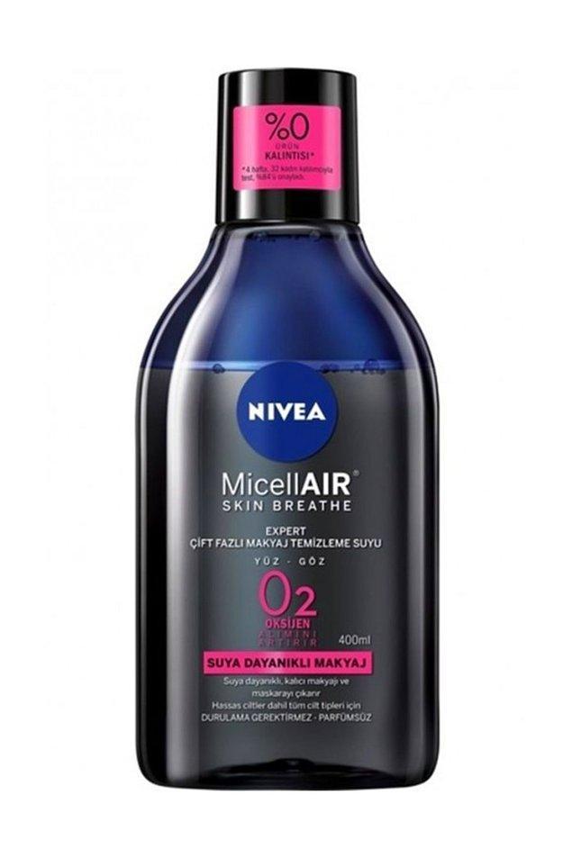 4. Suya dayanıklı ürünleri çıkarmak da dert normalde ama NIVEA'nın bu temizleyicisi makyajınızı anında yok edecek.