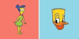 Художник соединяет известных мультипликационных персонажей в одно (30 фото)