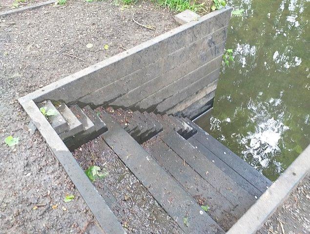 """2. """"Ördeklerin de sudan çıkarken merdivene ihtiyaç duyacağı düşünülmüş olmalı!"""" 😅"""