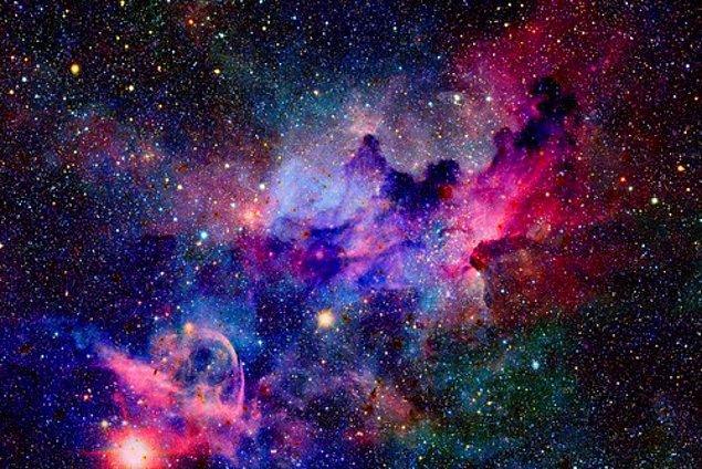 3. Evrenin yaklaşık 13.5 milyar yaşında olduğu tahmin ediliyor.
