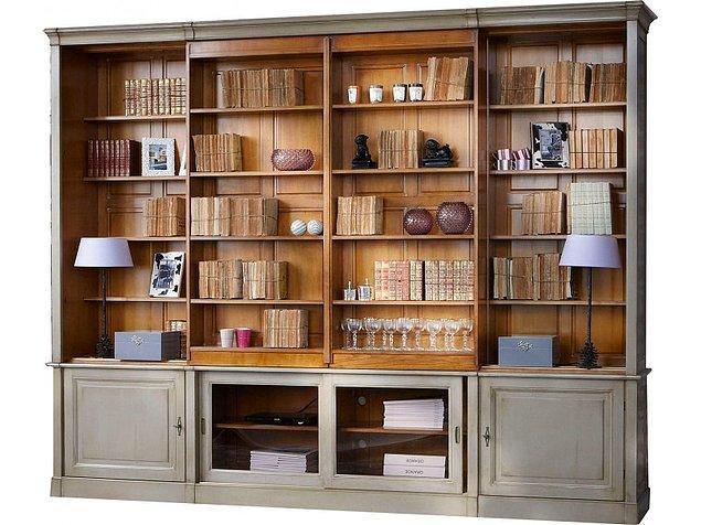 1. Klasik ve şık bir kitaplık arıyorsanız bu kitaplık tam size göre olabilir.