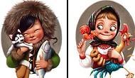 Русская художница рисует очаровательных представительниц разных национальностей (10 фото)