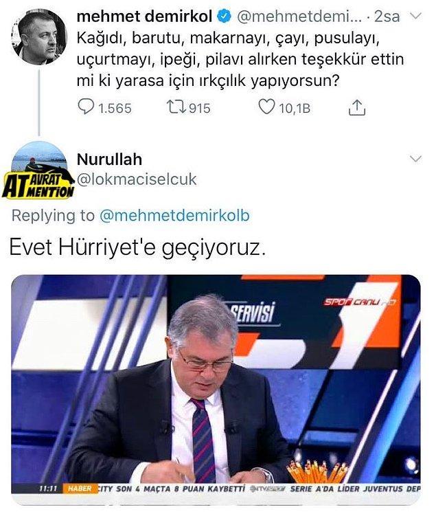 3. Teşekkürler Mehmet, şimdi Hürriyet'e geçiyoruz. :)