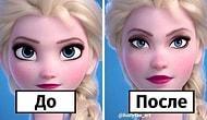Художница показывает, как бы выглядели 10 принцесс Диснея с реалистичными пропорциями лица