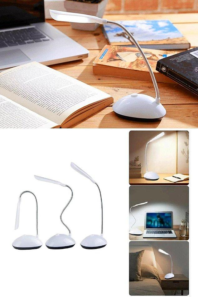2. Sınavlarınıza hazırlanırken masanızı ya da uyumadan önce okuyacağınız birkaç sayfa kitap için sayfalarınızı aydınlatacak masa lambası:
