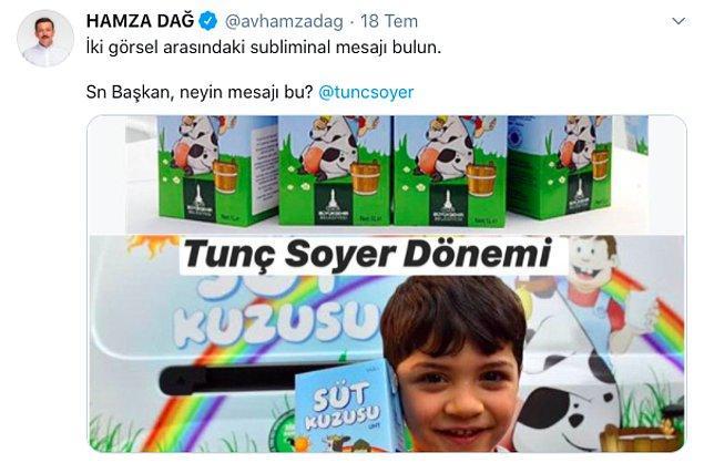 Aynı şey İzmir Büyükşehir Belediyesi tarafından çocuklara dağıtılan sütler için de geçerli; üstlerindeki gökkuşağı simgesi subliminal mesajlar taşıyor...