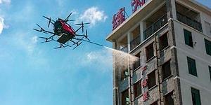 Китайская компания начала производство дрона-огнетушителя с пультом дистанционного управления