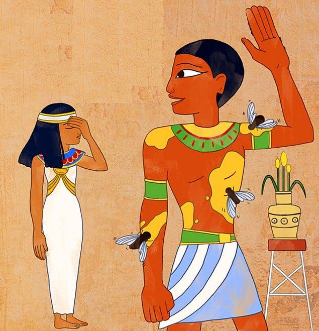 Firavunlar sivrisineklerden korunmak için vücuduna bal sürülmüş köleleri kullanırlardı.