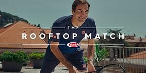 Потрясающий сюрприз от Роджера Федерера для девушек, играющих в теннис на крыше в период карантина