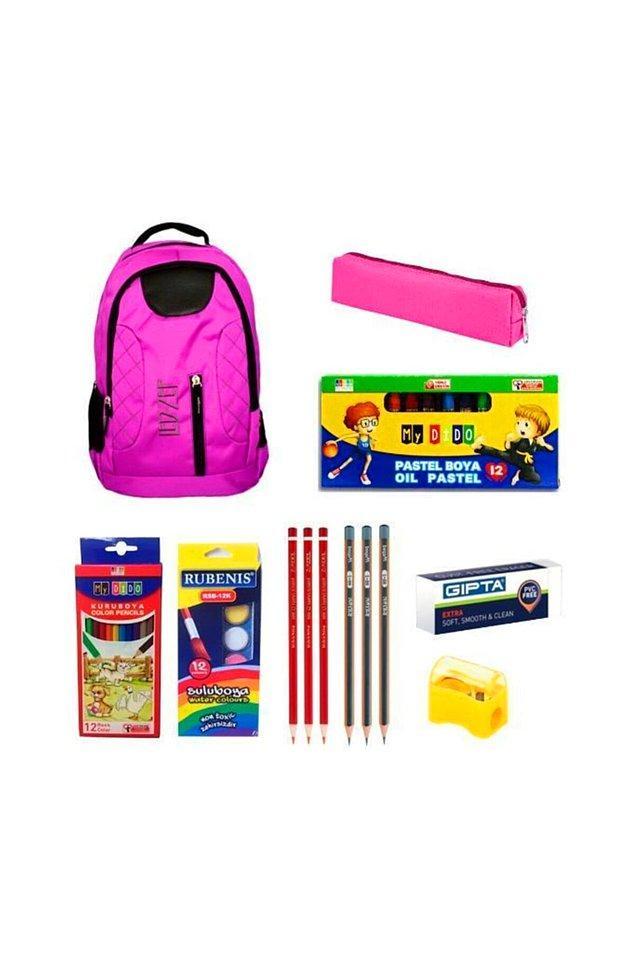 5. Ekonomik bir okul seti arayanlar için kaçırılmaması gereken fırsat. Bir sürü kırtasiye malzemesi ve okul çantası bir arada.