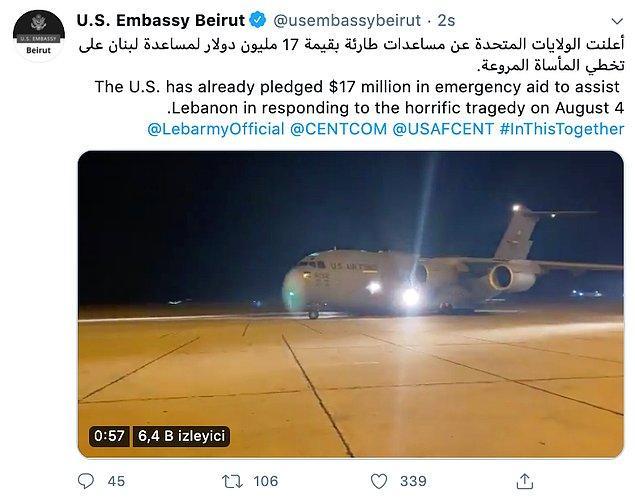 ABD'den 17 milyon dolarlık yardım