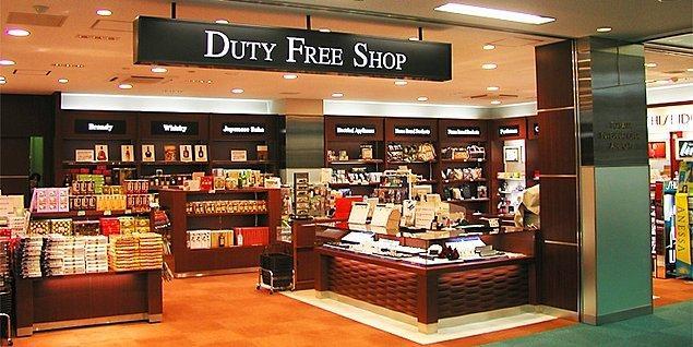 """2. Havaalanlarındaki Free Shoplarda """"ucuzluğun"""" keyfini çıkarmak ve bavul bavul alışveriş yapmak."""