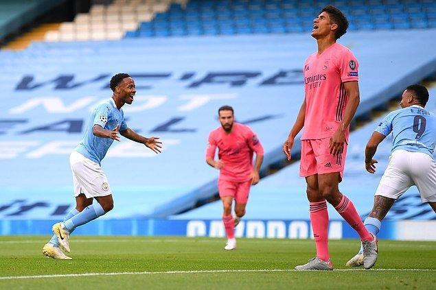 Dün akşam oynanan maçta Manchester City, Real Madrid'i 2-1'le geçerek Şampiyonlar Ligi'nde çeyrek finale kaldı.