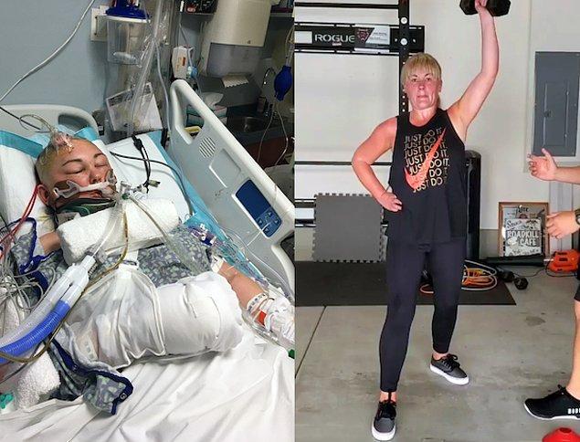 """3. """"Neredeyse ölümden ve beyin hasarından dönmemin ardından 4 yıl geçti. Nihayet antrenman yapabiliyorum ve her zamankinden daha iyi hissediyorum."""""""