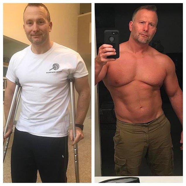 """10. """"Yaklaşık 1.5 yıl önce kalça ameliyatı geçirdim. Sonunda egzersiz yapmaya geri döndüm ve aralıklı oruç diyeti ile kilo vermeyi başardım."""""""