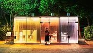 В Японии создают туалеты из прозрачного умного стекла, которое становится матовым, когда кто-то входит внутрь