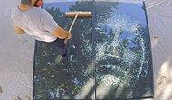 Художник создает потрясающие портреты, создавая трещины на стекле молотком(видео)