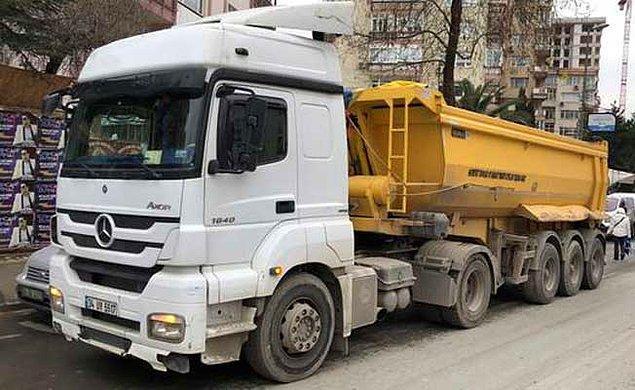 8. Hafriyat kamyonları
