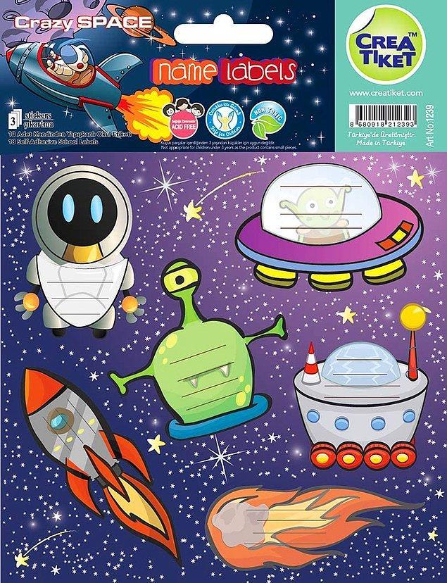 8. Uzaya ilgili bir çocuğunuz varsa bu isim etiketi tam ona göre!