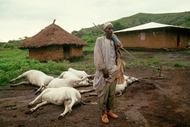 Tarihin görebileceği en büyük doğal facialardan birinin sonucunda 1746 insan ve 3500 hayvan yaşamını kaybediyor.
