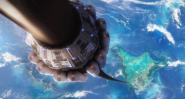 12. Eğer bir uzay asansörü inşa etseydik, uzaya yük taşımanın masrafı kilo başı 20 bin dolardan 200 dolara düşerdi.