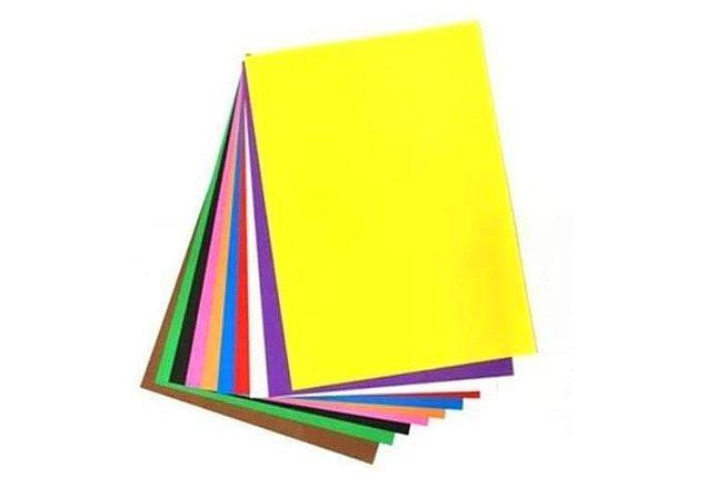 21. El işi kağıdı yaratıcı ödevler için bulunması gerekenlerden.