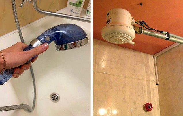 12. Çoğu evde ve otelde duş almak oldukça risklidir.