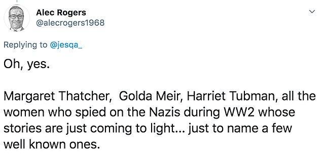 """20. """"Margaret Thatcher, Golda Meir ve Harriet Tubman..."""""""