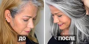 Калифорнийский парикмахер не прячет седину клиенток, а делает это фишкой
