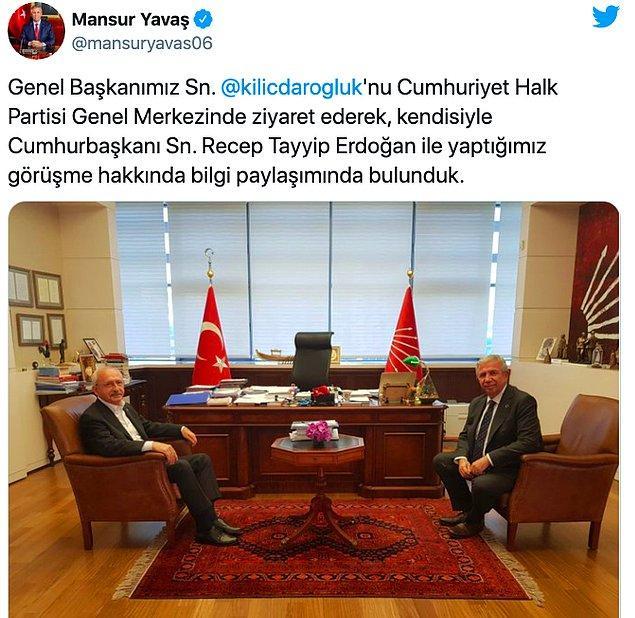 Yavaş, Kılıçdaroğlu'nu bilgilendirmeye gitti