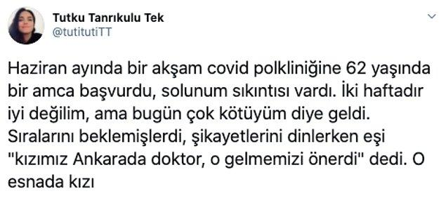 1. Dr. Tutku Tanrıkulu, Twitter'daki takipçileriyle haziran ayında yaşadığı bir olayı paylaştı. Bu üzücü olayın bir diğer kahramanı, başka bir doktorun babasıydı...