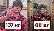 Парень из Японии скинул половину веса за год и теперь его не узнать!