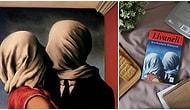 Zülfü Livaneli'nin Kardeşimin Hikayesi Adlı Kitabının Kapağını da Süslemiş Olan René Magritte'nin 'Aşıklar' Tablosu