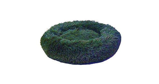 Dubex Ponchik Peluş Kedi Köpek Yatağı Yeşil Medium