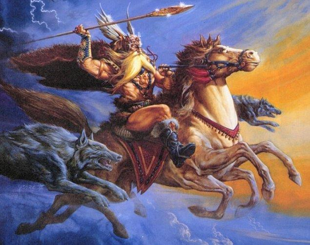 """3. Çarşamba gününün İngilizcesi olan """"wednesday""""in kökeni en önemli Cermen Tanrılarından biri olan Woden ve İskandinav mitolojisinden Odin'e dayanır."""