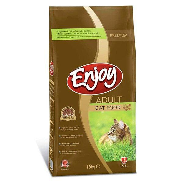 12. Enjoy Yetişkin Kedi Maması Tavuklu 15 Kg